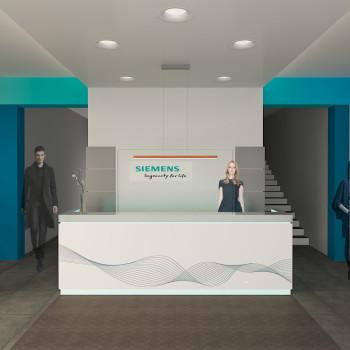 Siemens Zrt. csepeli telephely recepció terve