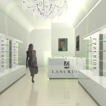 Lancrior üzletberendezés terve