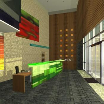 IP WEST irodaház lobby terv